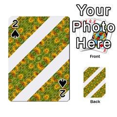 Indian Floral Pattern Stripes Playing Cards 54 Designs  by dflcprints