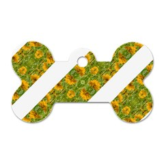 Indian Floral Pattern Stripes Dog Tag Bone (one Side) by dflcprints