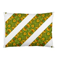 Indian Floral Pattern Stripes Pillow Case by dflcprints