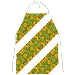 Indian Floral Pattern Stripes Full Print Aprons by dflcprints