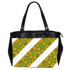 Indian Floral Pattern Stripes Office Handbags (2 Sides)  by dflcprints