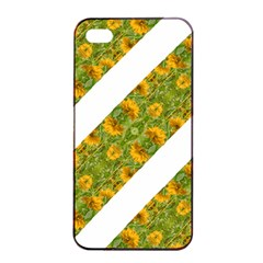 Indian Floral Pattern Stripes Apple Iphone 4/4s Seamless Case (black) by dflcprints
