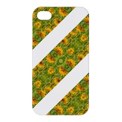 Indian Floral Pattern Stripes Apple Iphone 4/4s Hardshell Case by dflcprints