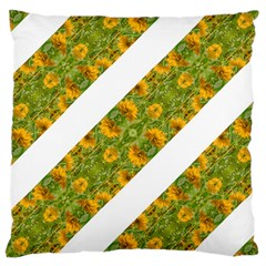 Indian Floral Pattern Stripes Large Cushion Case (two Sides) by dflcprints