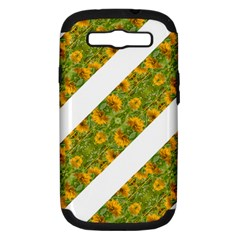 Indian Floral Pattern Stripes Samsung Galaxy S Iii Hardshell Case (pc+silicone) by dflcprints