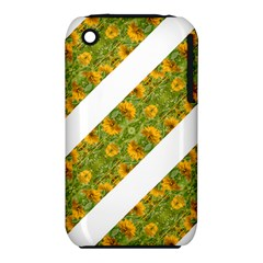Indian Floral Pattern Stripes Apple Iphone 3g/3gs Hardshell Case (pc+silicone) by dflcprints