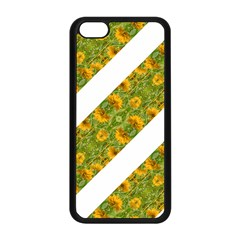 Indian Floral Pattern Stripes Apple Iphone 5c Seamless Case (black) by dflcprints