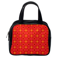 Peach Apricot Cinnamon Nutmeg Kitchen Modern Abstract Classic Handbags (one Side) by DianeClancy
