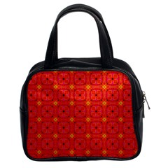 Peach Apricot Cinnamon Nutmeg Kitchen Modern Abstract Classic Handbags (2 Sides) by DianeClancy