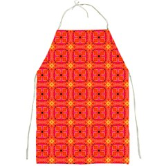 Peach Apricot Cinnamon Nutmeg Kitchen Modern Abstract Full Print Aprons by DianeClancy