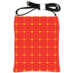 Peach Apricot Cinnamon Nutmeg Kitchen Modern Abstract Shoulder Sling Bags by DianeClancy