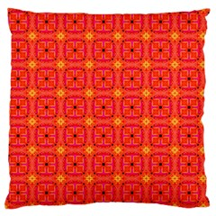 Peach Apricot Cinnamon Nutmeg Kitchen Modern Abstract Large Flano Cushion Case (Two Sides) by DianeClancy