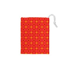 Peach Apricot Cinnamon Nutmeg Kitchen Modern Abstract Drawstring Pouches (xs)  by DianeClancy