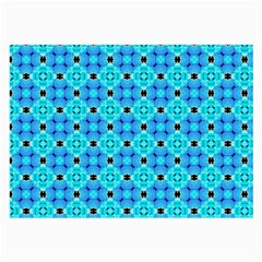 Vibrant Modern Abstract Lattice Aqua Blue Quilt Large Glasses Cloth (2 Side) by DianeClancy