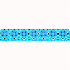 Vibrant Modern Abstract Lattice Aqua Blue Quilt Small Bar Mats by DianeClancy