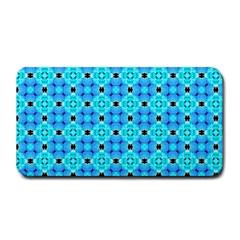 Vibrant Modern Abstract Lattice Aqua Blue Quilt Medium Bar Mats by DianeClancy