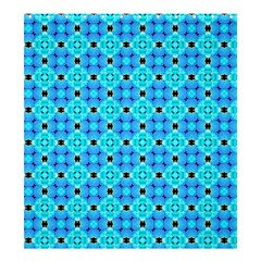 Vibrant Modern Abstract Lattice Aqua Blue Quilt Shower Curtain 66  X 72  (large)  by DianeClancy