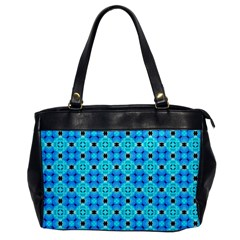 Vibrant Modern Abstract Lattice Aqua Blue Quilt Office Handbags by DianeClancy