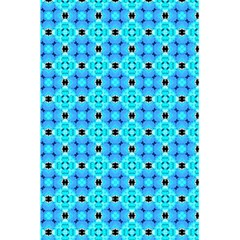 Vibrant Modern Abstract Lattice Aqua Blue Quilt 5 5  X 8 5  Notebooks by DianeClancy