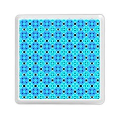 Vibrant Modern Abstract Lattice Aqua Blue Quilt Memory Card Reader (square)  by DianeClancy