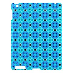 Vibrant Modern Abstract Lattice Aqua Blue Quilt Apple Ipad 3/4 Hardshell Case by DianeClancy
