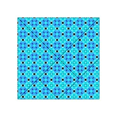 Vibrant Modern Abstract Lattice Aqua Blue Quilt Acrylic Tangram Puzzle (4  X 4 ) by DianeClancy