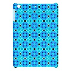 Vibrant Modern Abstract Lattice Aqua Blue Quilt Apple Ipad Mini Hardshell Case by DianeClancy