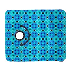 Vibrant Modern Abstract Lattice Aqua Blue Quilt Samsung Galaxy S  Iii Flip 360 Case by DianeClancy