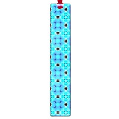 Vibrant Modern Abstract Lattice Aqua Blue Quilt Large Book Marks by DianeClancy