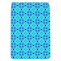 Vibrant Modern Abstract Lattice Aqua Blue Quilt Flap Covers (l)  by DianeClancy