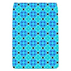 Vibrant Modern Abstract Lattice Aqua Blue Quilt Flap Covers (s)  by DianeClancy