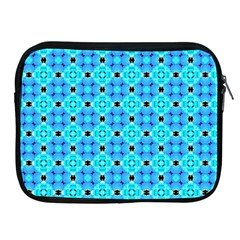 Vibrant Modern Abstract Lattice Aqua Blue Quilt Apple Ipad 2/3/4 Zipper Cases by DianeClancy