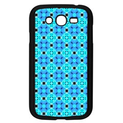 Vibrant Modern Abstract Lattice Aqua Blue Quilt Samsung Galaxy Grand Duos I9082 Case (black) by DianeClancy