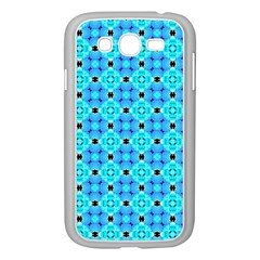 Vibrant Modern Abstract Lattice Aqua Blue Quilt Samsung Galaxy Grand Duos I9082 Case (white) by DianeClancy