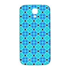 Vibrant Modern Abstract Lattice Aqua Blue Quilt Samsung Galaxy S4 I9500/i9505  Hardshell Back Case by DianeClancy