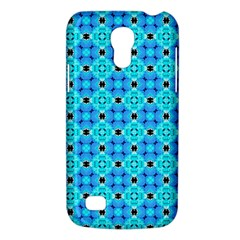Vibrant Modern Abstract Lattice Aqua Blue Quilt Galaxy S4 Mini by DianeClancy