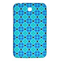Vibrant Modern Abstract Lattice Aqua Blue Quilt Samsung Galaxy Tab 3 (7 ) P3200 Hardshell Case  by DianeClancy