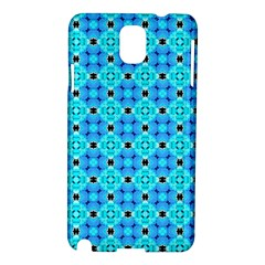 Vibrant Modern Abstract Lattice Aqua Blue Quilt Samsung Galaxy Note 3 N9005 Hardshell Case by DianeClancy