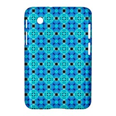 Vibrant Modern Abstract Lattice Aqua Blue Quilt Samsung Galaxy Tab 2 (7 ) P3100 Hardshell Case  by DianeClancy