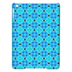 Vibrant Modern Abstract Lattice Aqua Blue Quilt Ipad Air Hardshell Cases by DianeClancy