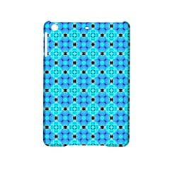 Vibrant Modern Abstract Lattice Aqua Blue Quilt Ipad Mini 2 Hardshell Cases by DianeClancy