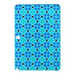 Vibrant Modern Abstract Lattice Aqua Blue Quilt Samsung Galaxy Tab Pro 10.1 Hardshell Case by DianeClancy