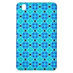 Vibrant Modern Abstract Lattice Aqua Blue Quilt Samsung Galaxy Tab Pro 8 4 Hardshell Case by DianeClancy