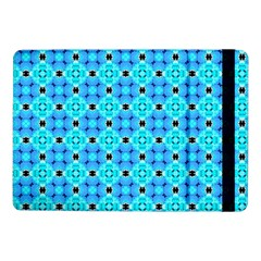 Vibrant Modern Abstract Lattice Aqua Blue Quilt Samsung Galaxy Tab Pro 10 1  Flip Case by DianeClancy