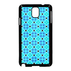 Vibrant Modern Abstract Lattice Aqua Blue Quilt Samsung Galaxy Note 3 Neo Hardshell Case (black) by DianeClancy
