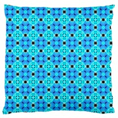 Vibrant Modern Abstract Lattice Aqua Blue Quilt Standard Flano Cushion Case (one Side) by DianeClancy