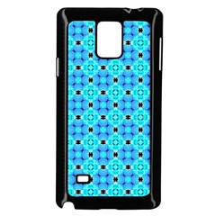 Vibrant Modern Abstract Lattice Aqua Blue Quilt Samsung Galaxy Note 4 Case (black) by DianeClancy