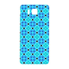 Vibrant Modern Abstract Lattice Aqua Blue Quilt Samsung Galaxy Alpha Hardshell Back Case by DianeClancy