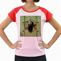 Awesome Green Skull Women s Cap Sleeve T Shirt by FantasyWorld7