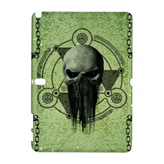 Awesome Green Skull Samsung Galaxy Note 10 1 (p600) Hardshell Case